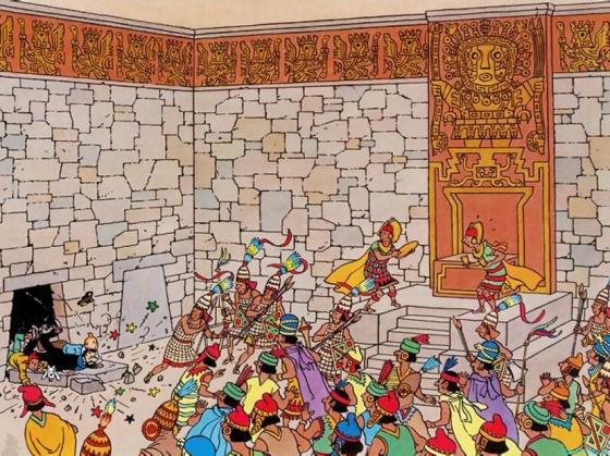 Tintin-El temple